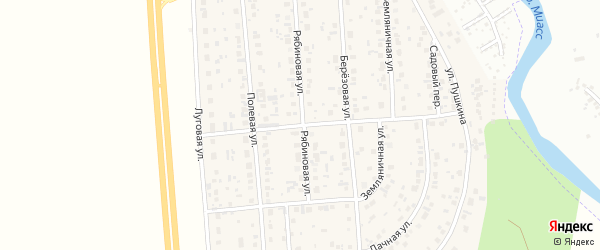 Земляничная улица на карте деревни Нового Поля с номерами домов
