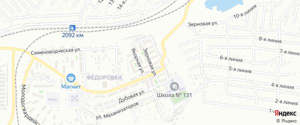 Зерновая улица на карте Челябинска с номерами домов