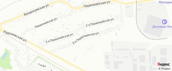 Первомайская 3-я улица на карте Челябинска с номерами домов