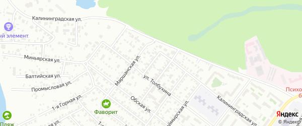 Кременкульский переулок на карте Челябинска с номерами домов