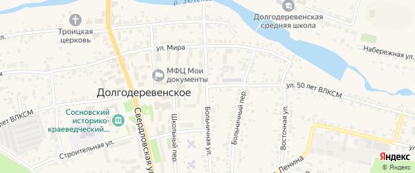Улица 50 лет ВЛКСМ на карте Долгодеревенского села с номерами домов