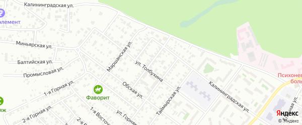 Кременкульская улица на карте Челябинска с номерами домов
