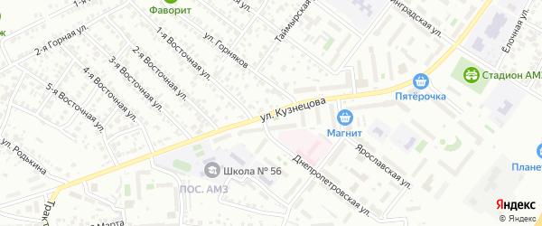 Улица Кузнецова на карте Челябинска с номерами домов