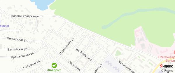 Калининградская улица на карте Челябинска с номерами домов