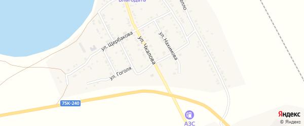 Улица Гоголя на карте Увельского поселка с номерами домов