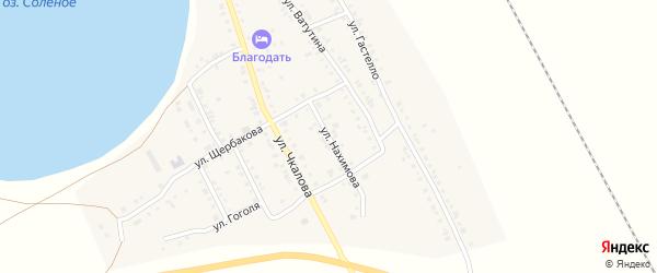 Улица Нахимова на карте Увельского поселка с номерами домов