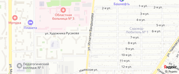 Улица Игнатия Вандышева на карте Челябинска с номерами домов