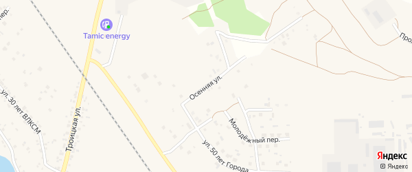 Осенняя улица на карте Коркино с номерами домов