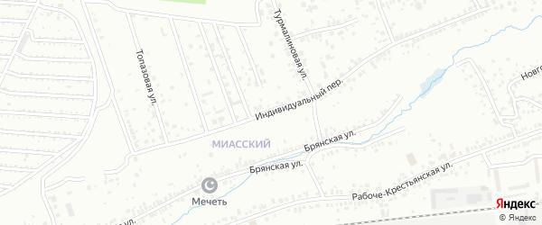 Индивидуальный переулок на карте Челябинска с номерами домов