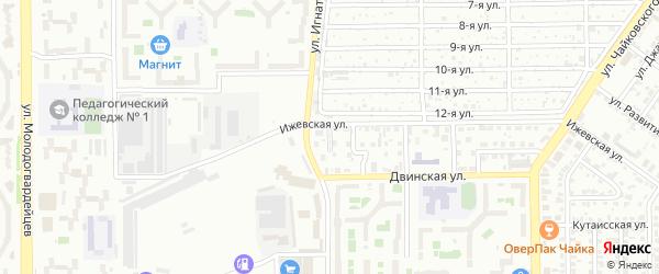 Двинский 1-й переулок на карте Челябинска с номерами домов