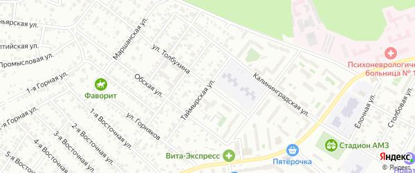 Таймырская улица на карте Челябинска с номерами домов