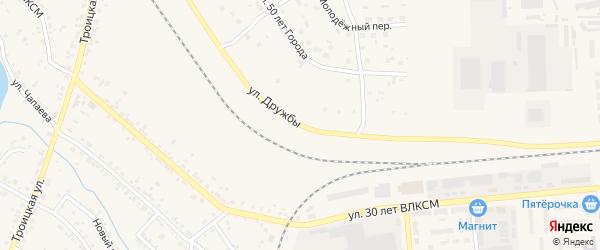 Улица Дружбы на карте Коркино с номерами домов