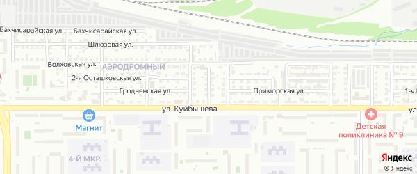 Херсонская 2-я улица на карте Челябинска с номерами домов