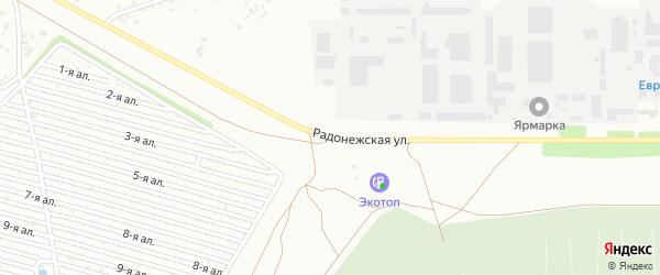 Радонежская улица на карте Челябинска с номерами домов