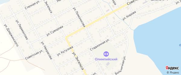 Улица Ломоносова на карте Увельского поселка с номерами домов
