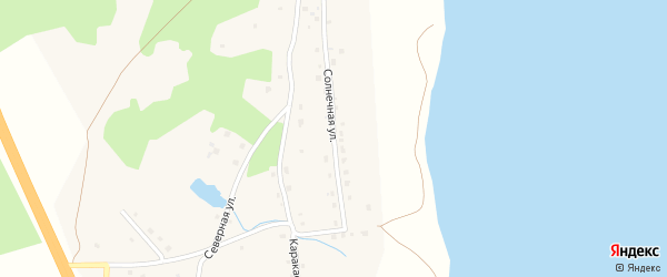 Солнечная улица на карте деревни Султаева с номерами домов