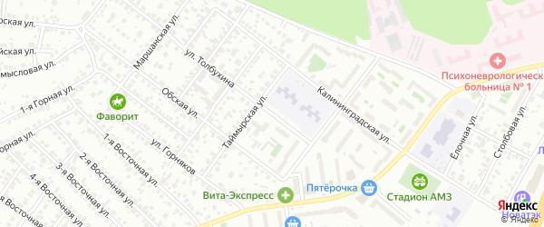 Улица Толбухина на карте Челябинска с номерами домов