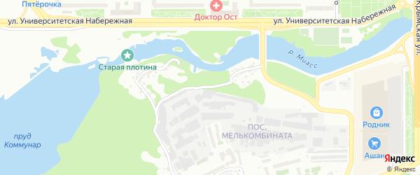 Территория 2 Мельзавод на карте Челябинска с номерами домов