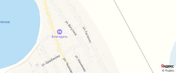 Улица Гастелло на карте Увельского поселка с номерами домов