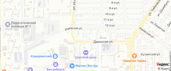 Двинский 2-й переулок на карте Челябинска с номерами домов