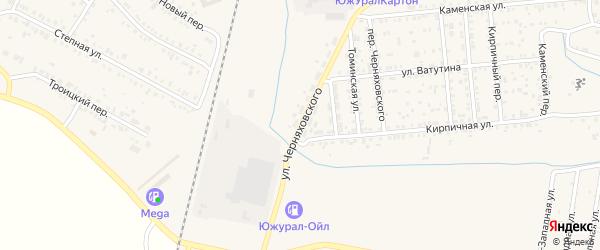 Улица Черняховского на карте Коркино с номерами домов