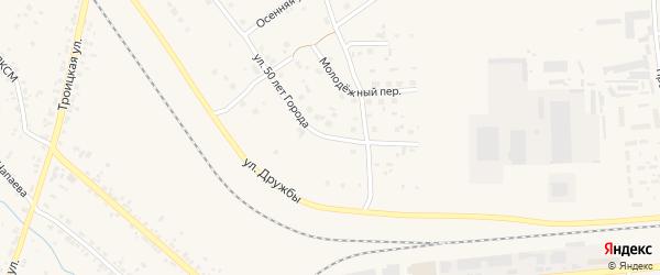 Улица 50 лет города на карте Коркино с номерами домов
