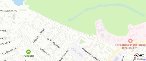 Рубцовская улица на карте Челябинска с номерами домов