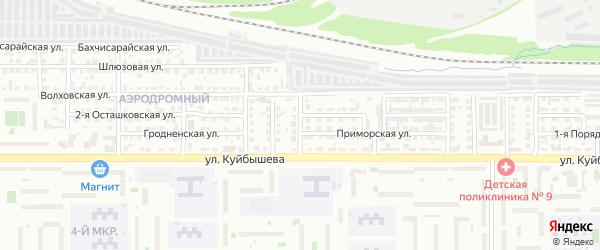 Херсонская 3-я улица на карте Челябинска с номерами домов