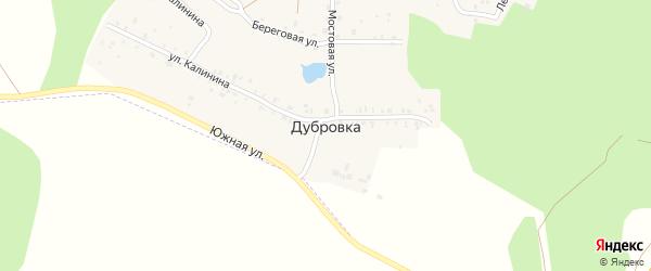 Южная улица на карте деревни Дубровки с номерами домов