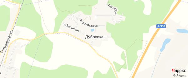 Карта Дубровки - Челябинской железнодорожной станции города Коркино в Челябинской области с улицами и номерами домов