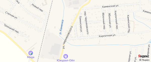 Томинский переулок на карте Коркино с номерами домов
