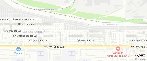Волховская улица на карте Челябинска с номерами домов