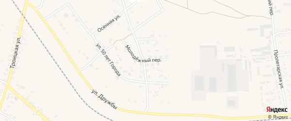Молодежный переулок на карте Коркино с номерами домов