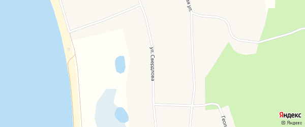Улица Свердлова на карте села Сары с номерами домов