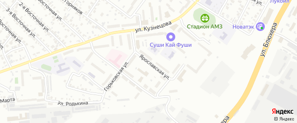 Ярославская улица на карте Челябинска с номерами домов