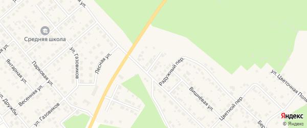 Сосновый переулок на карте Долгодеревенского села с номерами домов