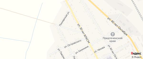 Траншейная улица на карте Увельского поселка с номерами домов