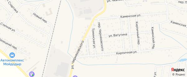 Томинская улица на карте Коркино с номерами домов