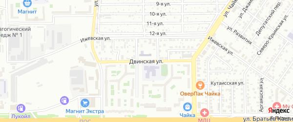 Двинская улица на карте Челябинска с номерами домов