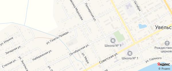 Улица Павлика Морозова на карте Увельского поселка с номерами домов