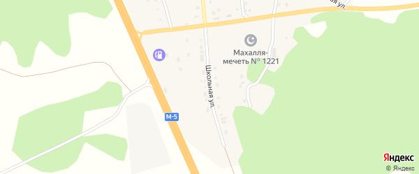 Школьная улица на карте деревни Султаева с номерами домов