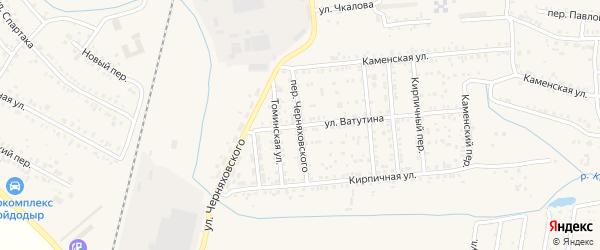 Переулок Черняховского на карте Коркино с номерами домов