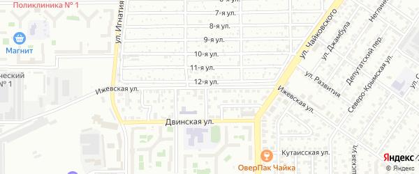 Ижевская улица на карте Челябинска с номерами домов