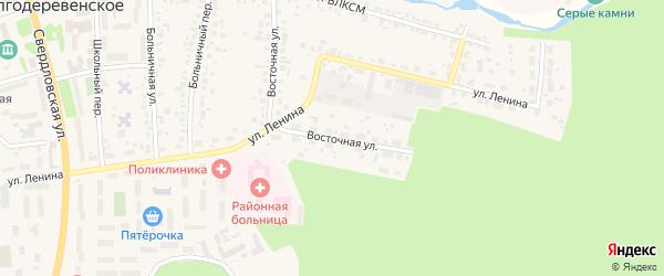 Восточная улица на карте Долгодеревенского села с номерами домов