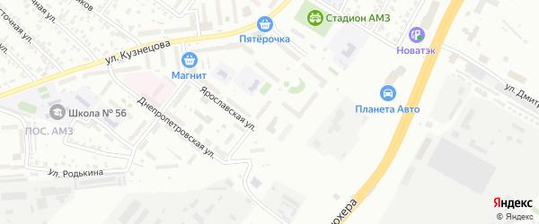 Улица Чарчана на карте Челябинска с номерами домов