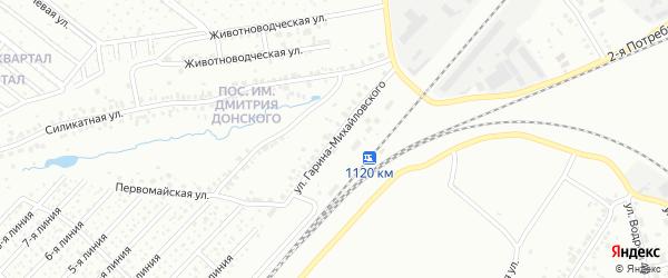 Улица Гарина-Михайловского на карте Челябинска с номерами домов