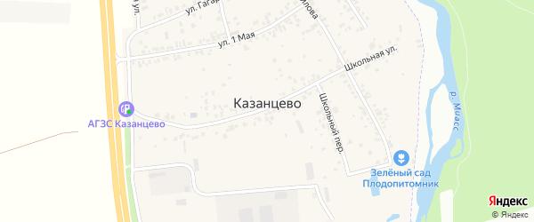 Советская улица на карте деревни Казанцево с номерами домов