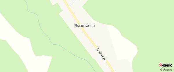 Речная улица на карте деревни Ямантаева с номерами домов