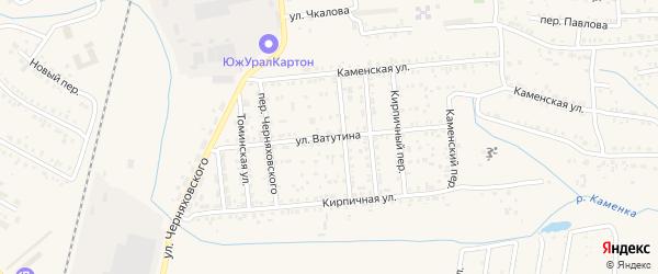 Улица Ватутина на карте Коркино с номерами домов