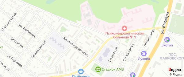 Улица Ковшовой на карте Челябинска с номерами домов